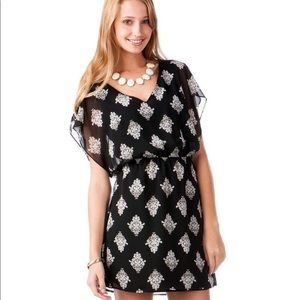 Francesca's Black & White Printed Medallion Dress